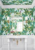 Thibaut Central Park Wallpaper in Sky Blue